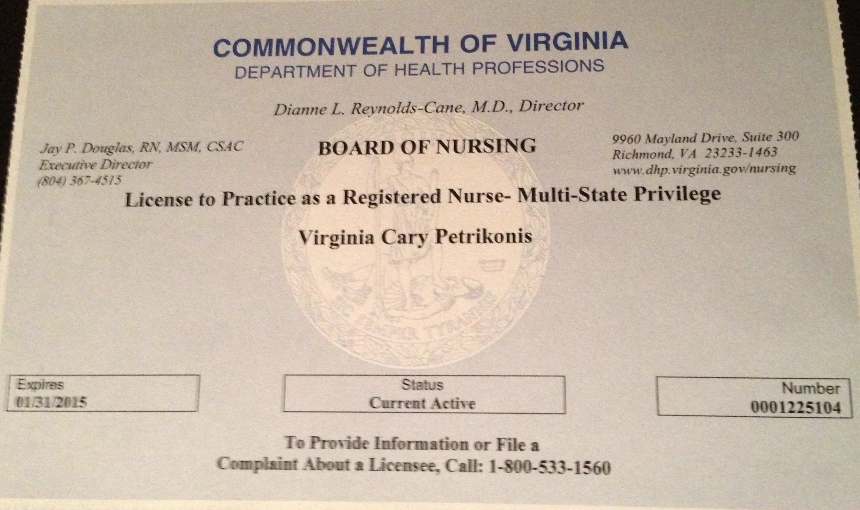 Licensure certifications virginia petrikonis med ba bsn rn american heart association basic life support for healthcare provider 808 614 plan to obtain certified pediatric nurse certification in may 2013 xflitez Gallery